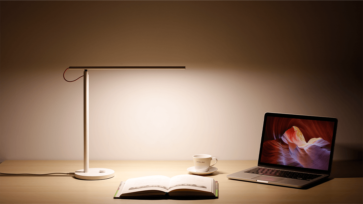 Mi Led Desk Lamp Flicker Free Color Temperature Dimmable 4 Lighting Modes Wi Fi Enabled Yeelight