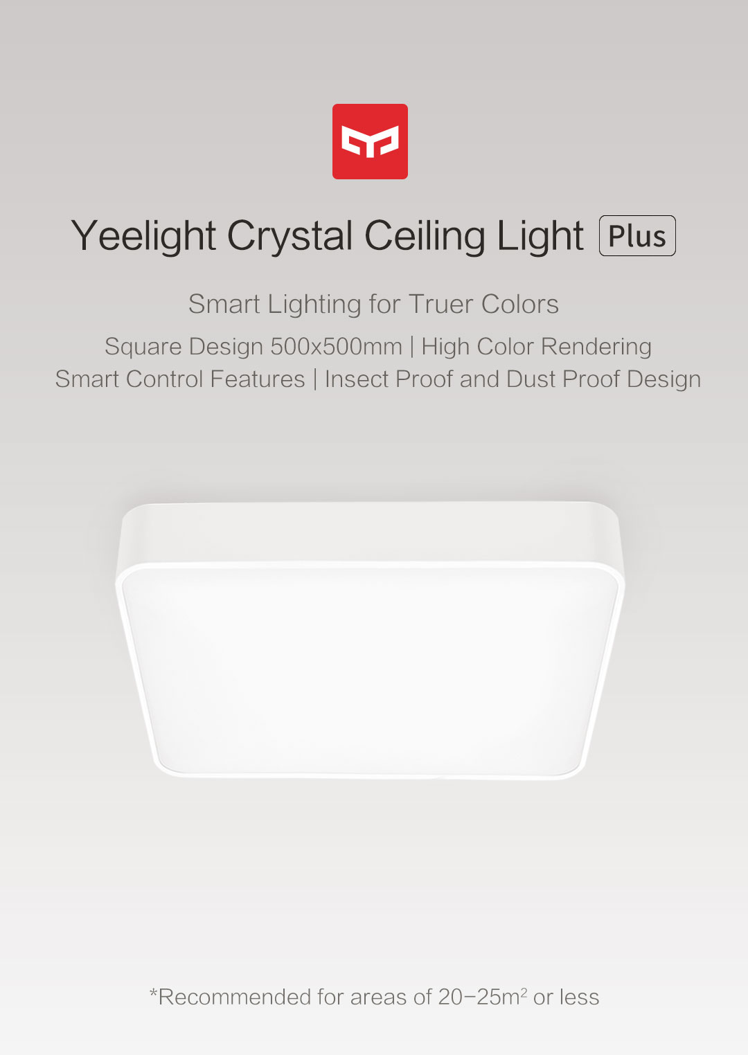 Crystal Ceiling Light Plus Yeelight